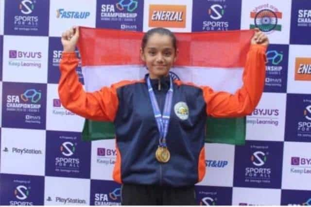 Achievement of AVM Juhu's Kimaya Tandon in Athletics