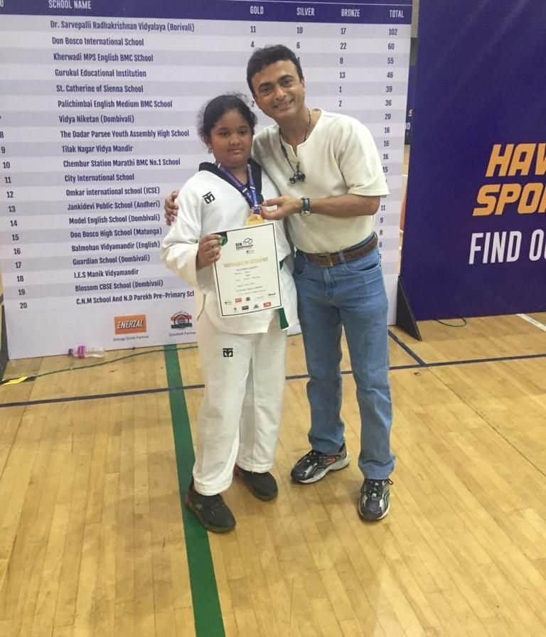 Miss Krsna J Naik secures Gold at the SFA Taekwondo Tournament