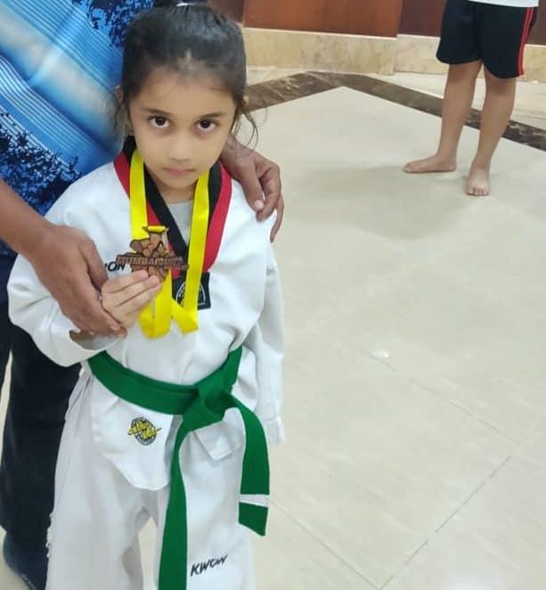 Saanvi Sanjeevi wins Bronze at the Mumbai Games