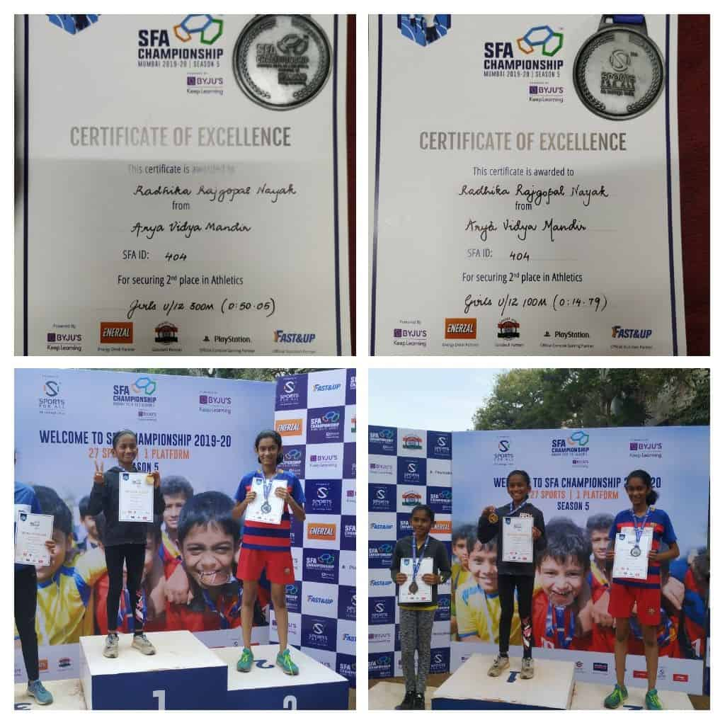 Miss Radhika Nayak secures Silver at the SFA championship Athletic Meet