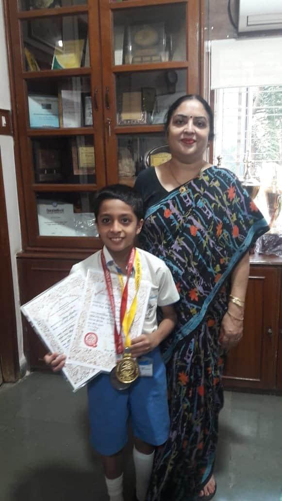 MSSA Swimming Gold and Bronze for Shray Bhalla- AVM, Juhu