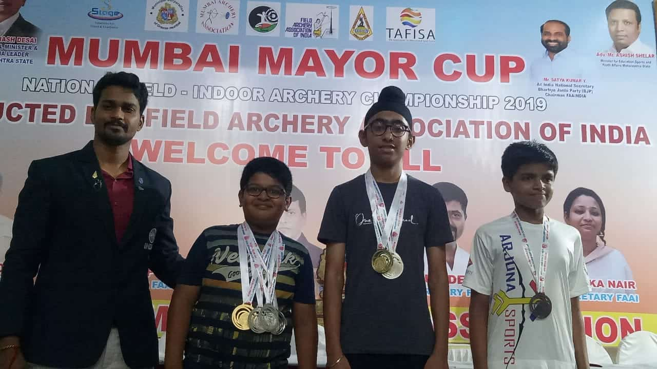 The young bowman of AVM Bandra West wins Gold and Silver in Archery!!!