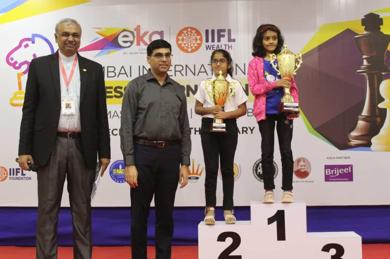 Prisha rewarded by Vishwanath Anand – AVM, Juhu