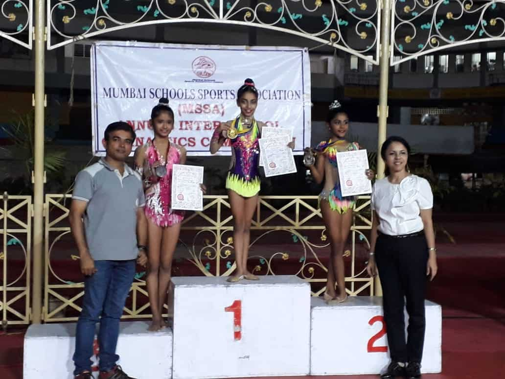 Miss Parina Madanpotra bags Two Gold and Two Silver medals through her rhythmic moves!!